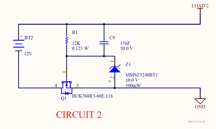 Revers battery protection using a simple diode