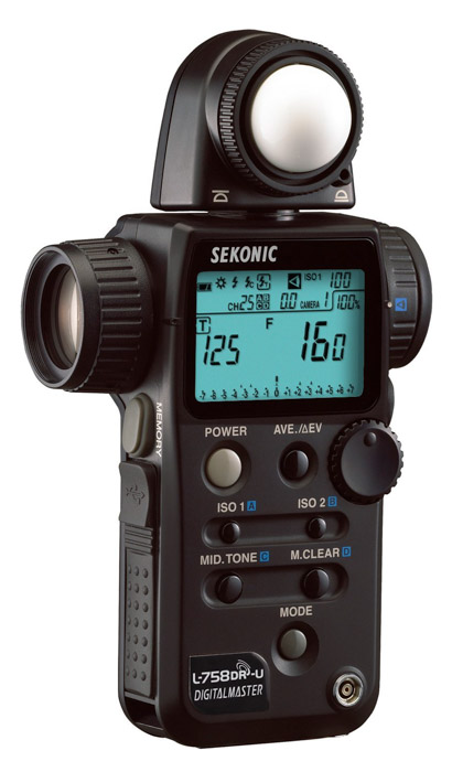 Photo of a sekonic L-308S-U Flashmate Light Meter. HOw to use a light meter
