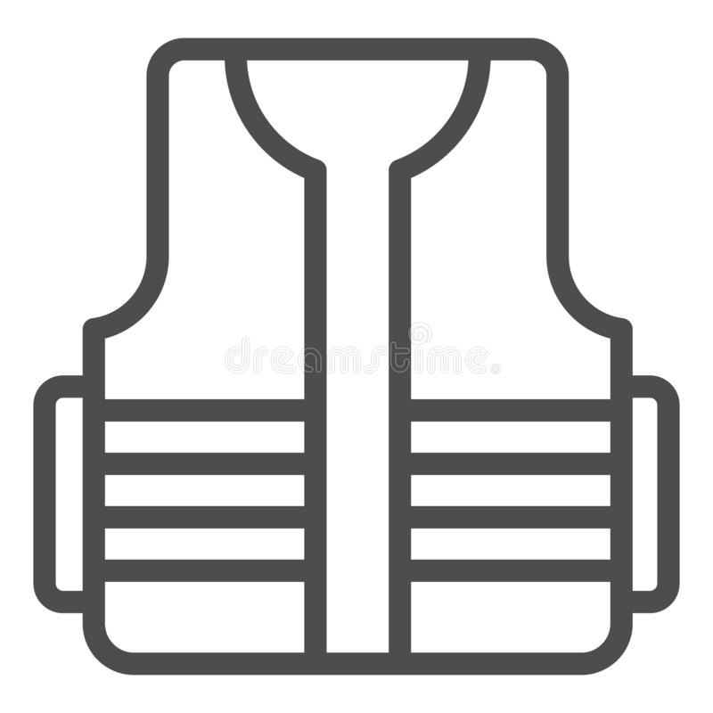 Builder vest line icon. Construction wear vector illustration isolated on white. Protective vest outline style design vector illustration