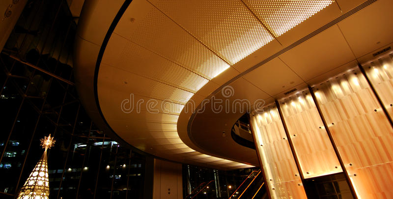 Interior Lighting. Design in Lobby stock photography