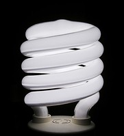 A helical integrated CFL, one of the most popular designs in North America since 1995, when a Chinese firm marketed the first successful design.[14]