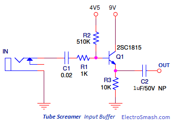 Tube Screamer Input Buffer