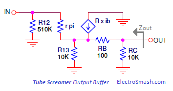 Tube Screamer Output Buffer Small Signal